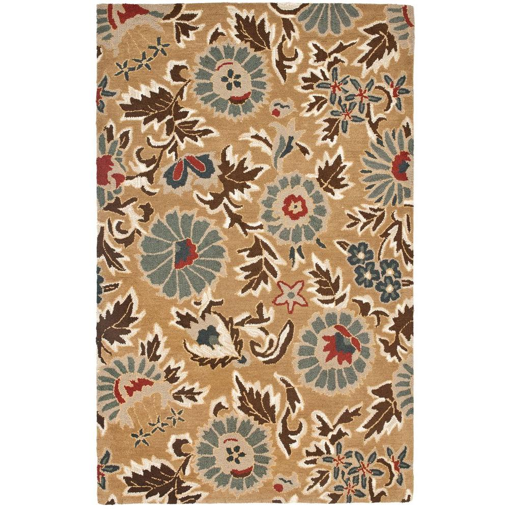 Safavieh Blossom Beige/Multi 5 ft. x 8 ft. Area Rug