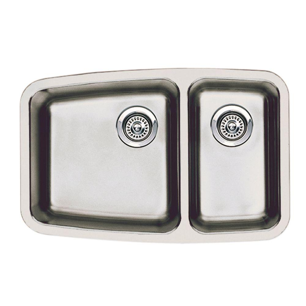 Blanco Performa Small Undermount 17.5 Double Basin Kitchen Sink - DISCONTINUED
