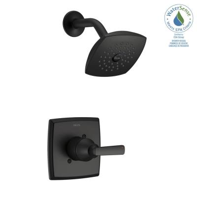 Ashlyn 1-Handle Wall Mount Shower Faucet Trim Kit in Matte Black (Valve Not Included)