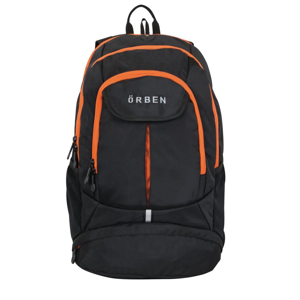 863eefa2fab Orben 20 In Orange Black Polyester Backpack Or153 04018 Org7 The