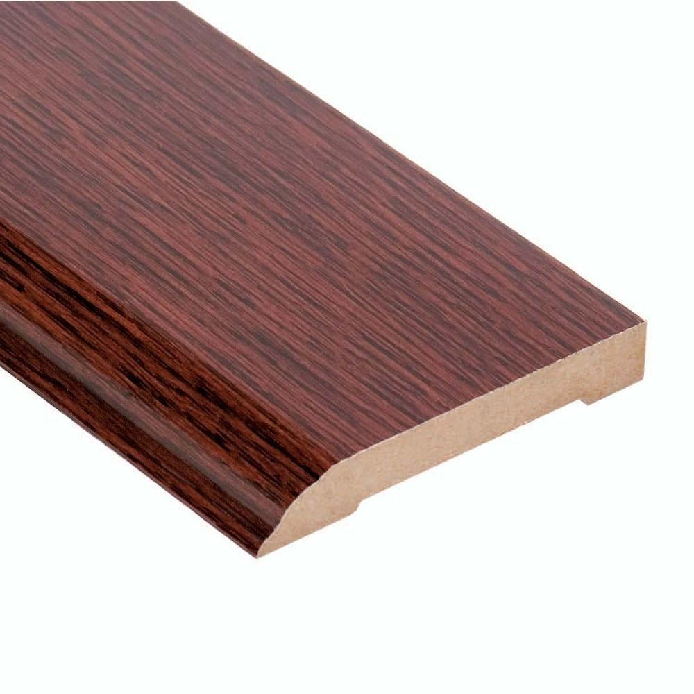 Oak Mocha 1/2 in. Thick x 3-1/2 in. Wide x 94 in. Length Hardwood Wall Base Molding