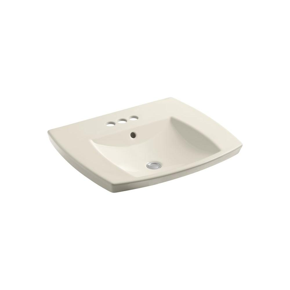 Kohler kelston drop in vitreous china bathroom sink in - Decorating with almond bathroom fixtures ...