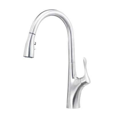 Napa Single-Handle Pull-Down Sprayer Kitchen Faucet in Stainless Steel
