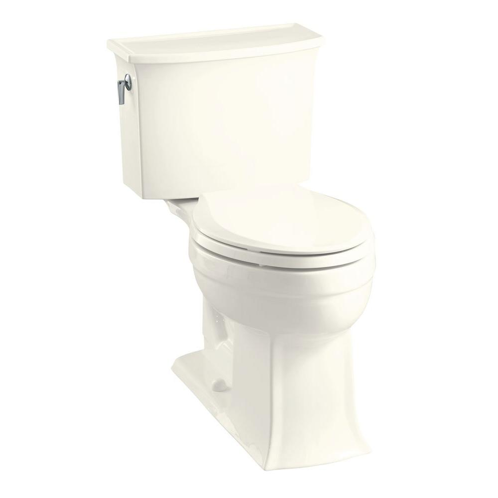 KOHLER Archer Comfort Height 2-Piece 1.6 GPF Elongated Toilet in Biscuit-DISCONTINUED