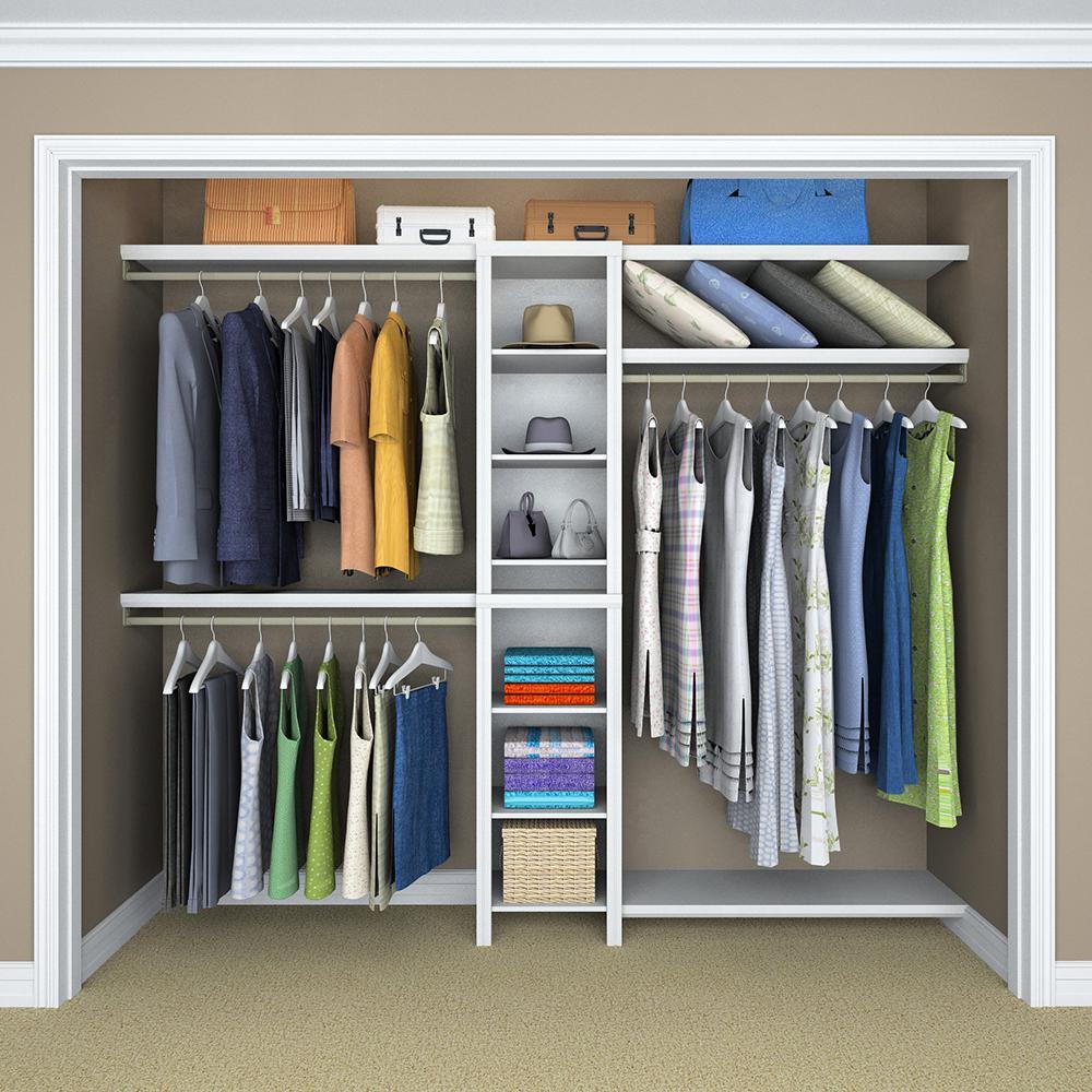 Closetmaid Impressions 16 In W White Narrow Closet Kit