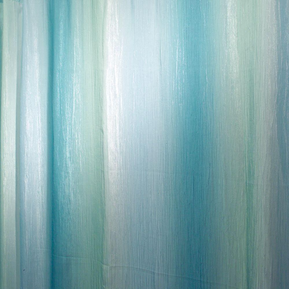 InterDesign Ombre Print Shower Curtain In Blue Green