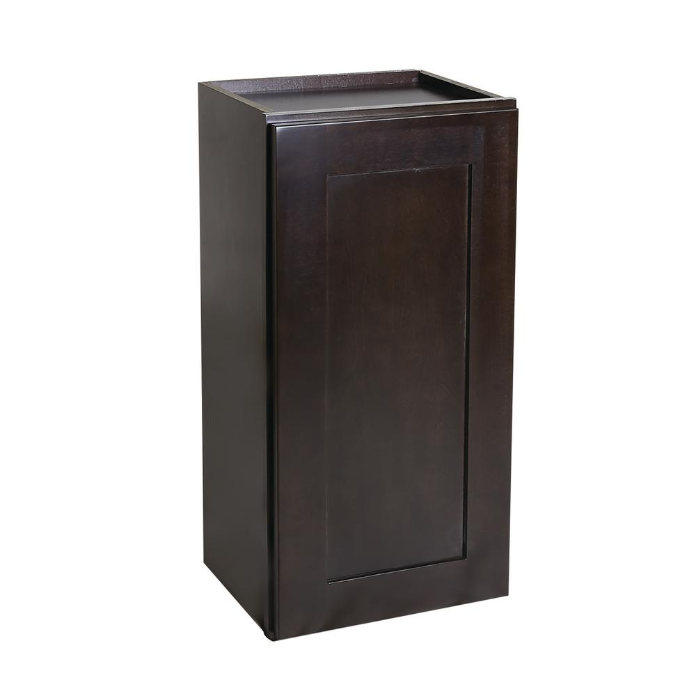 Ready to Assemble 18x12x30 in. Brookings Shaker Style 1-Door Wall Cabinet