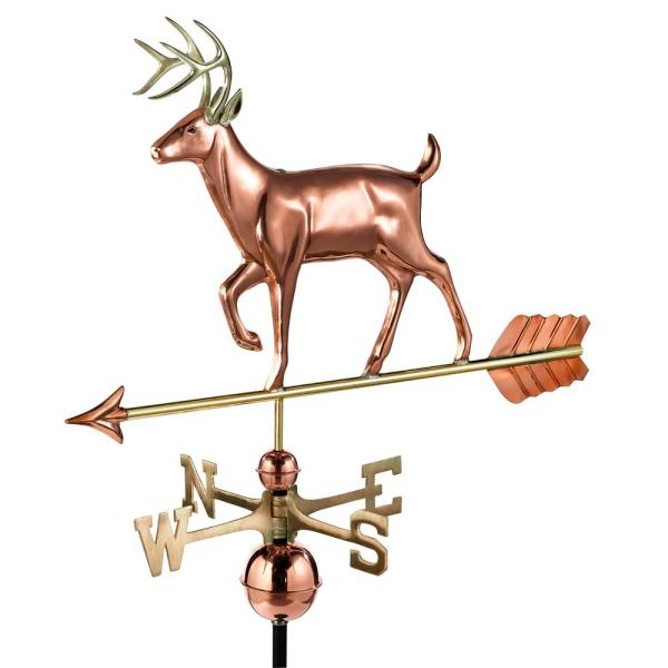 White Tail Buck Weathervane - Pure Copper