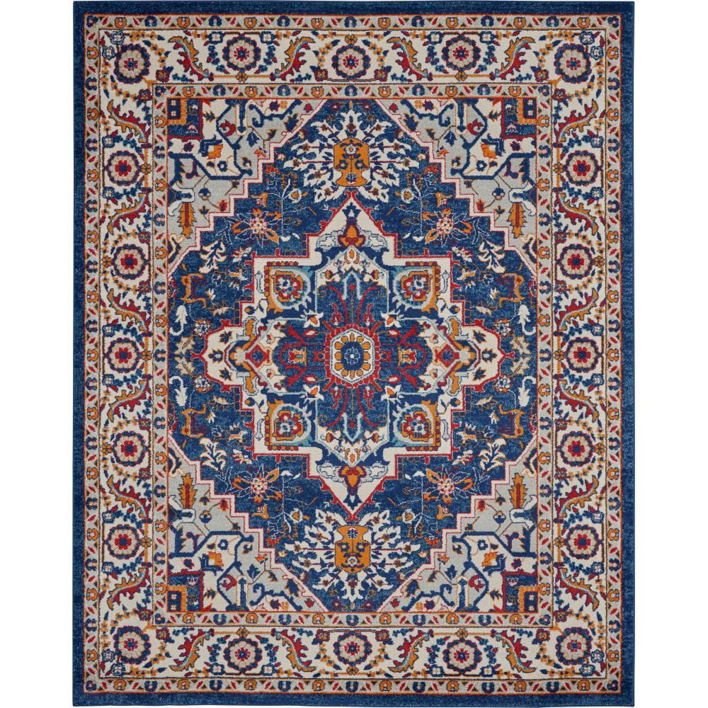 8 Ft X 10 Blue Multicolor Area Rug