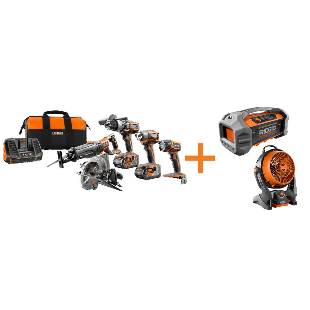 18-Volt GEN5X Cordless Lithium-Ion Combo Kit (7-Tool) with (2) 4.0Ah HYPER