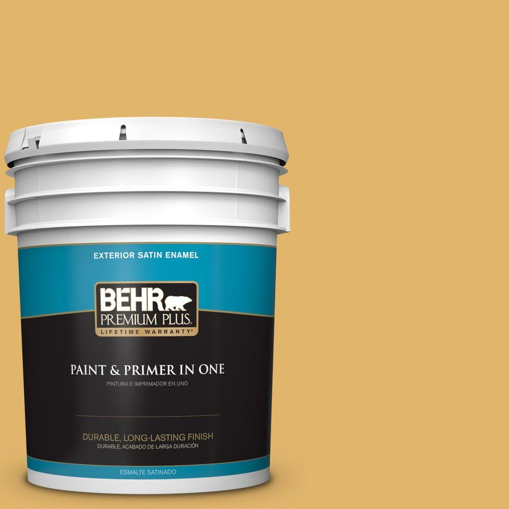 5-gal. #M290-5 English Custard Satin Enamel Exterior Paint