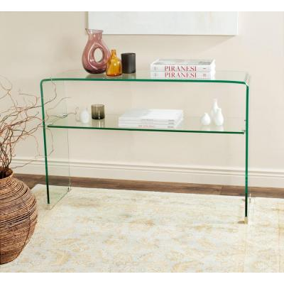 Hollis Clear Console Table