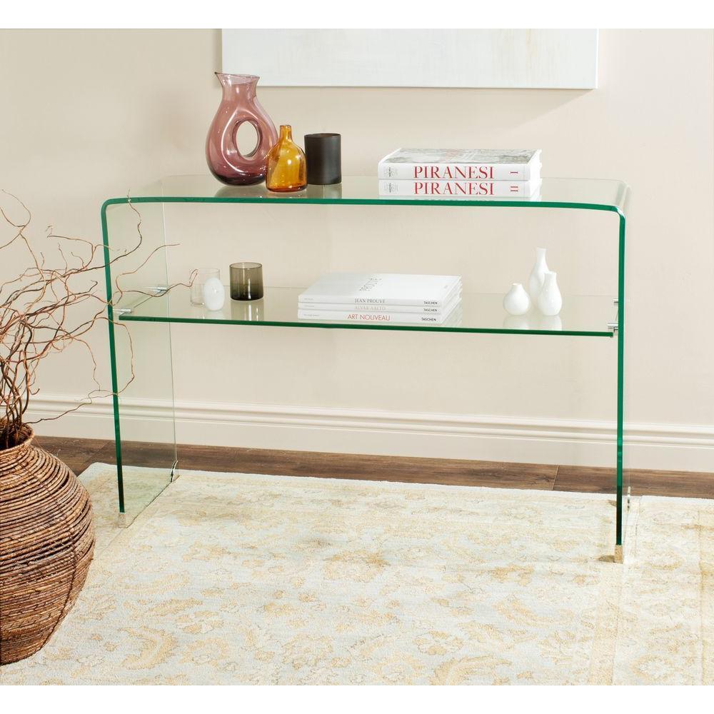 Safavieh Hollis Clear Console Table FOX6013A - The Home Depot