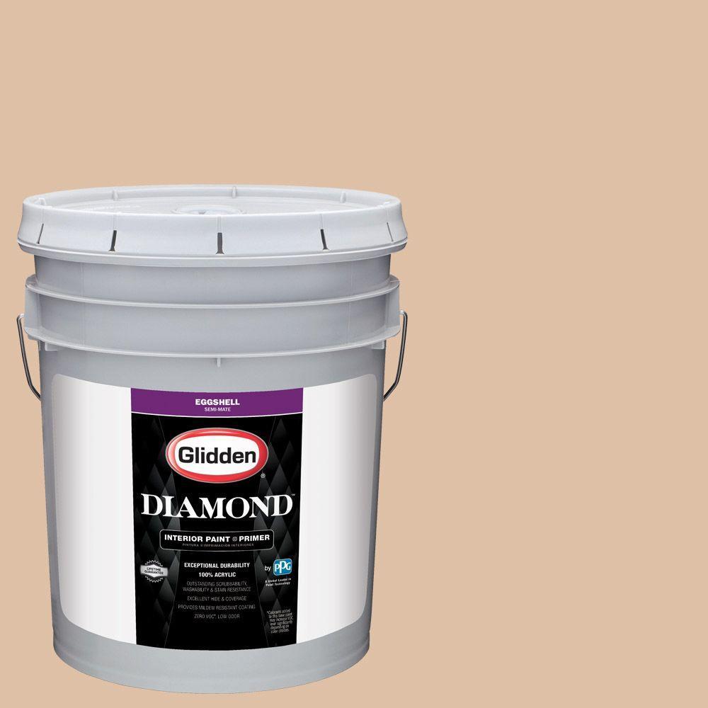 Glidden Diamond 5 gal. #HDGWN14 Antique Bisque Eggshell Interior Paint with Primer