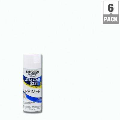 12 oz. White Primer General Purpose Spray Paint (6-Pack)