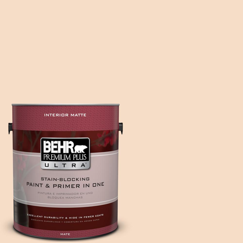 1 gal. #HDC-SP14-3 Faint Peach Matte Interior Paint