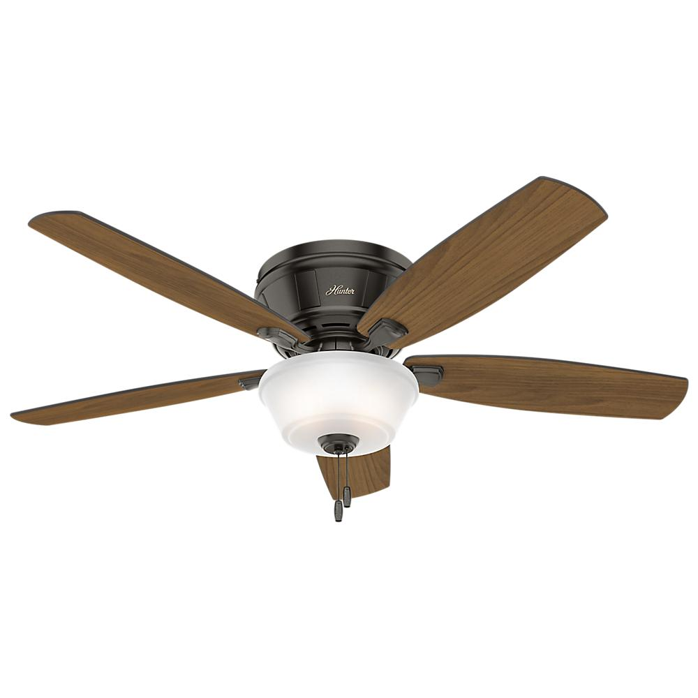 Hunter Estate Winds 56 In. Indoor Noble Bronze Low Profile