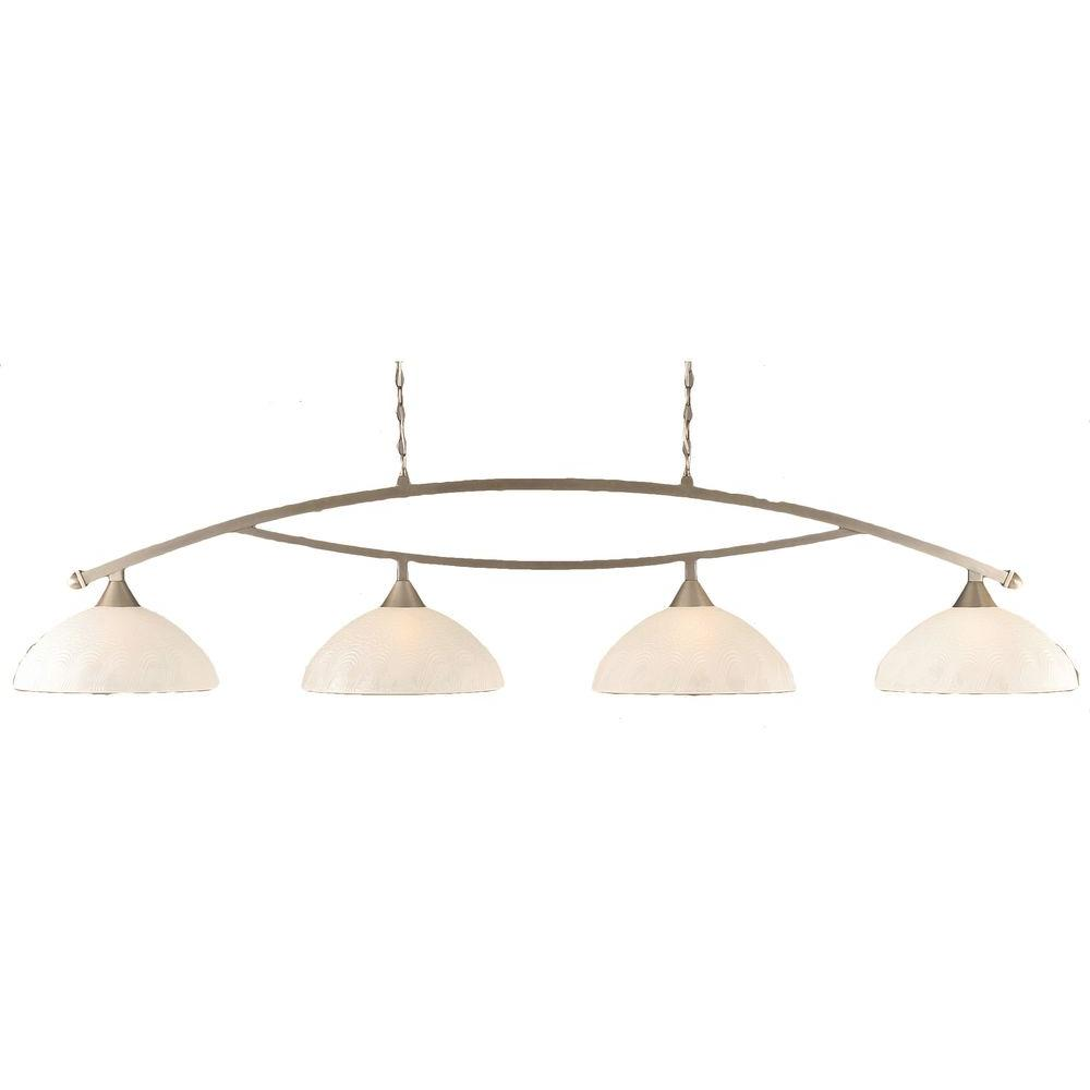 Filament Design Concord 4-Light Brushed Nickel Incandescent Ceiling Island Pendant
