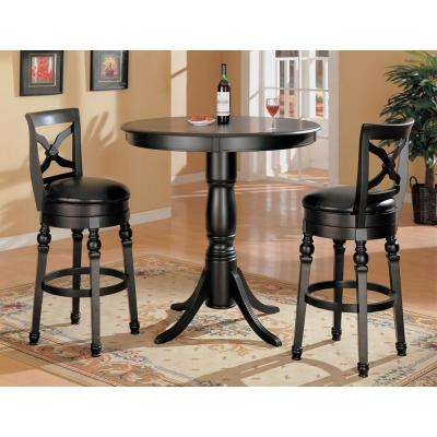 Rec Room 29 in. Classic Black Leatherette Bar Stool with X-Back
