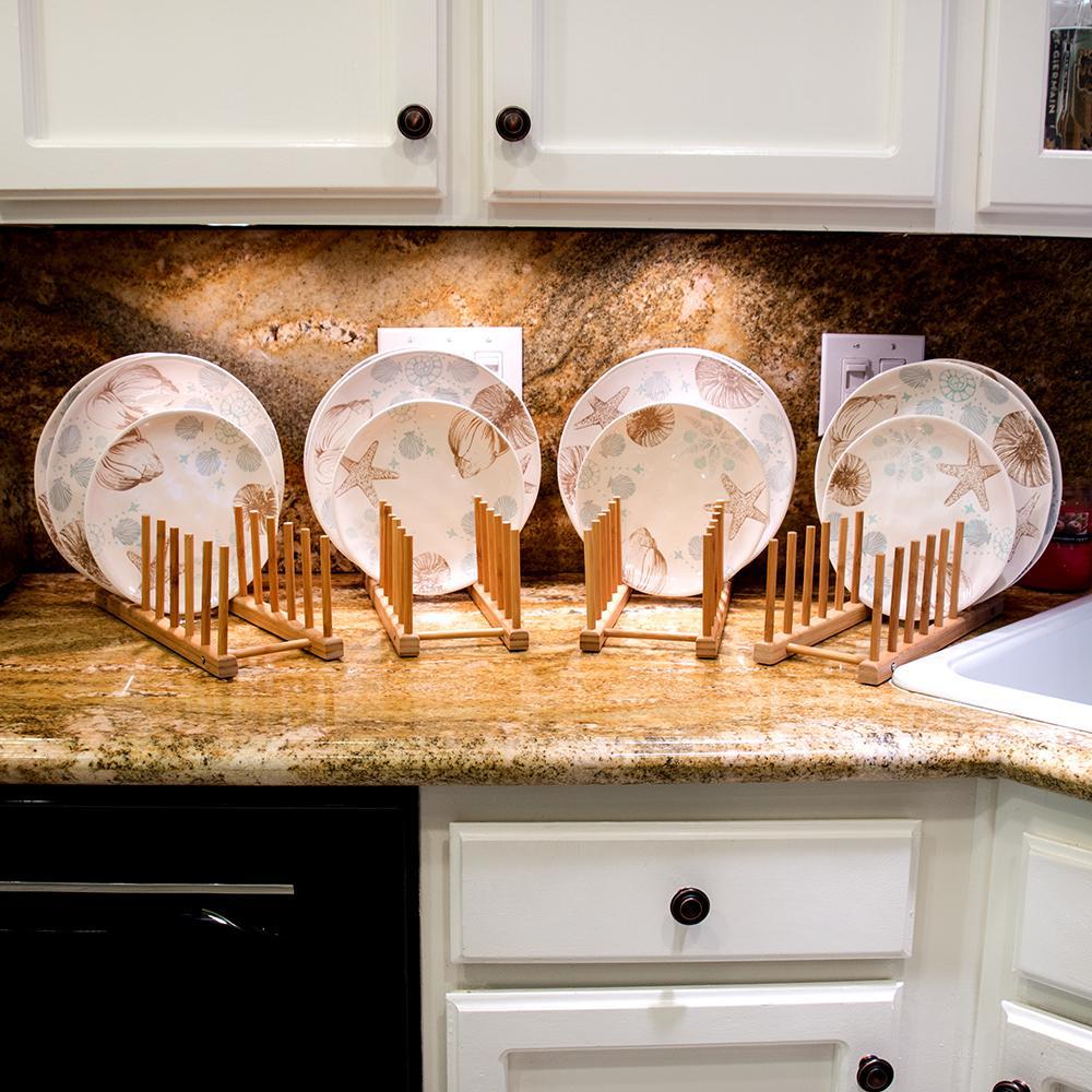 Trademark Innovations 13 In. Multi-Purpose Bamboo Plate