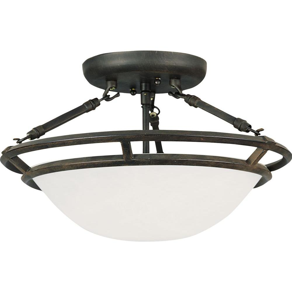 Maxim Lighting Stratus 3-Light Bronze Semi-Flush Mount Light