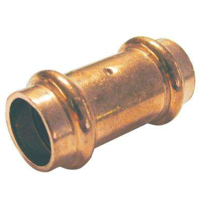 1 in. Copper Press x Press Pressure Coupling with Dimple Stop