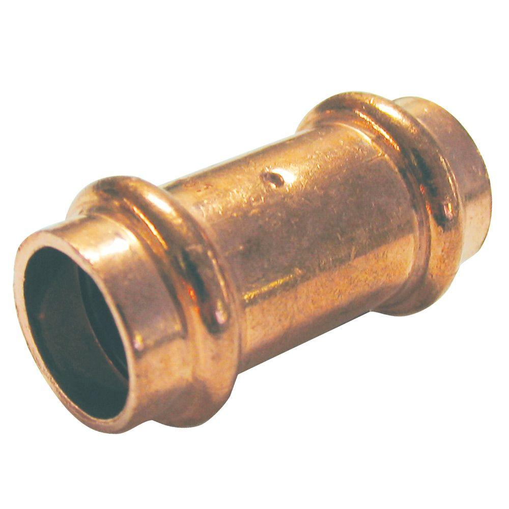 3/4 in. Copper Press x Press Pressure Coupling with Dimple Stop