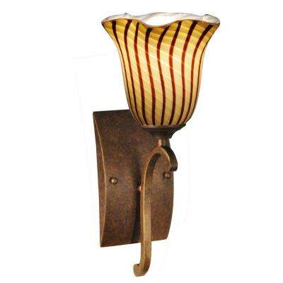 Valley Glen 1-Light Antique Golden Bronze Sconce