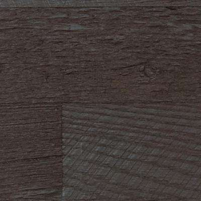 Superior 10 in. x 10 in. Faux Barnwood Panel Siding Sample Double Espresso