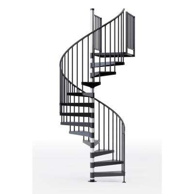 Reroute Prime 60 in. (5 ft. 0 in.) Wide 9 Treads with Two 42 in. H Platform Rails Spiral Stair Kit