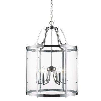 Tiva Collection 6-Light Chrome Pendant