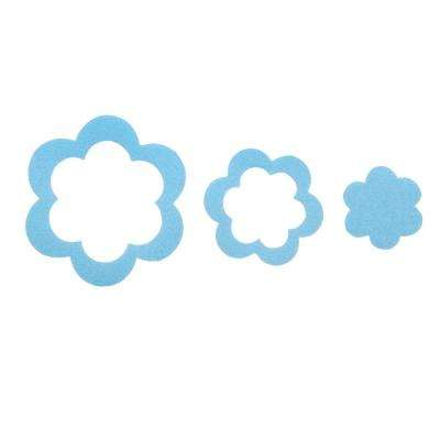 Adhesive Flower Treads in Blue (21-Count)