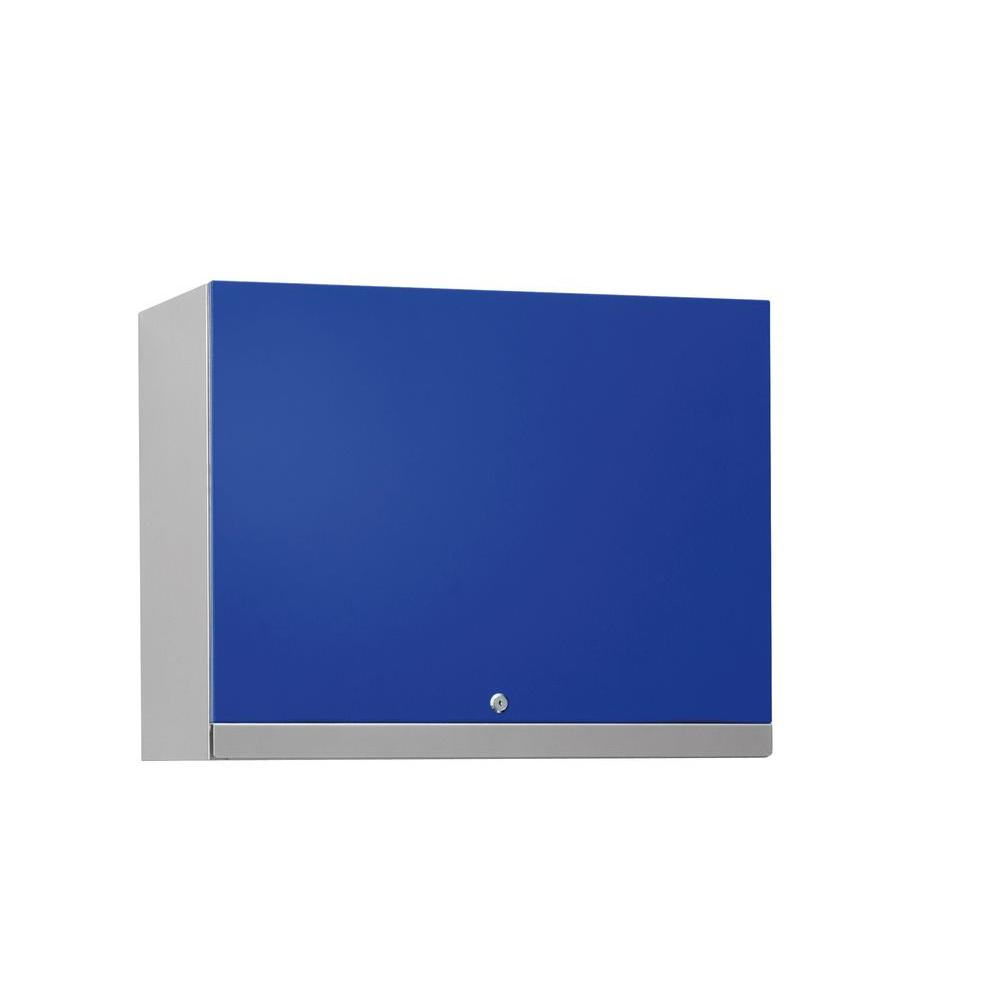 NewAge Products Performance Plus 22 in. H x 28 in. W x 14 in. D Steel Garage Wall Cabinet in Blue