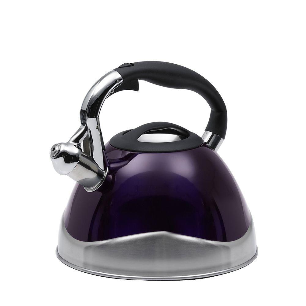 Creative Home Crescendo 12.4-Cup Stovetop Tea Kettle in Purple