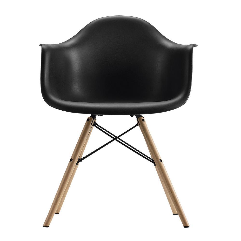 Pleasant Dhp Harper Black Mid Century Modern Molded Arm Chair With Ibusinesslaw Wood Chair Design Ideas Ibusinesslaworg