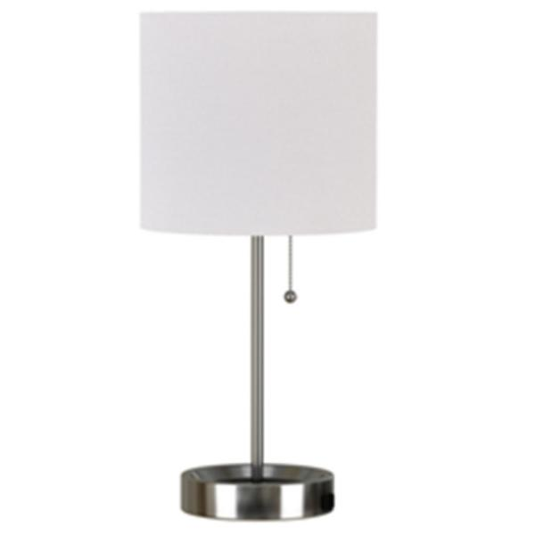 Hampton Bay 17 In Brushed Nickel Table, Home Depot Table Lamps For Bedroom