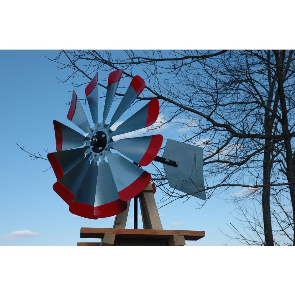 10 ft. Wood Backyard Windmill