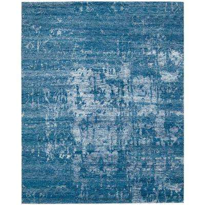 Silken Shadows Ocean 6 ft. x 7 ft. Area Rug