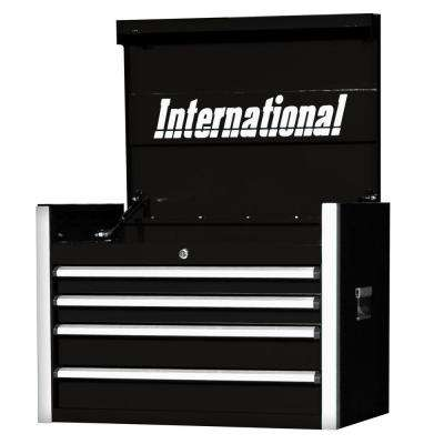 Pro Series 27 in. 4-Drawer Top Chest, Black