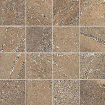 Ayers Rock Bronzed Beacon 13 in. x 13 in. x 10 mm Glazed Porcelain Mosaic Floor and Wall Tile (1.2 sq. ft. / piece)