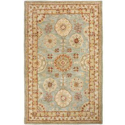 Donovan Smoke Blue 8 ft. x 11 ft. Area Rug