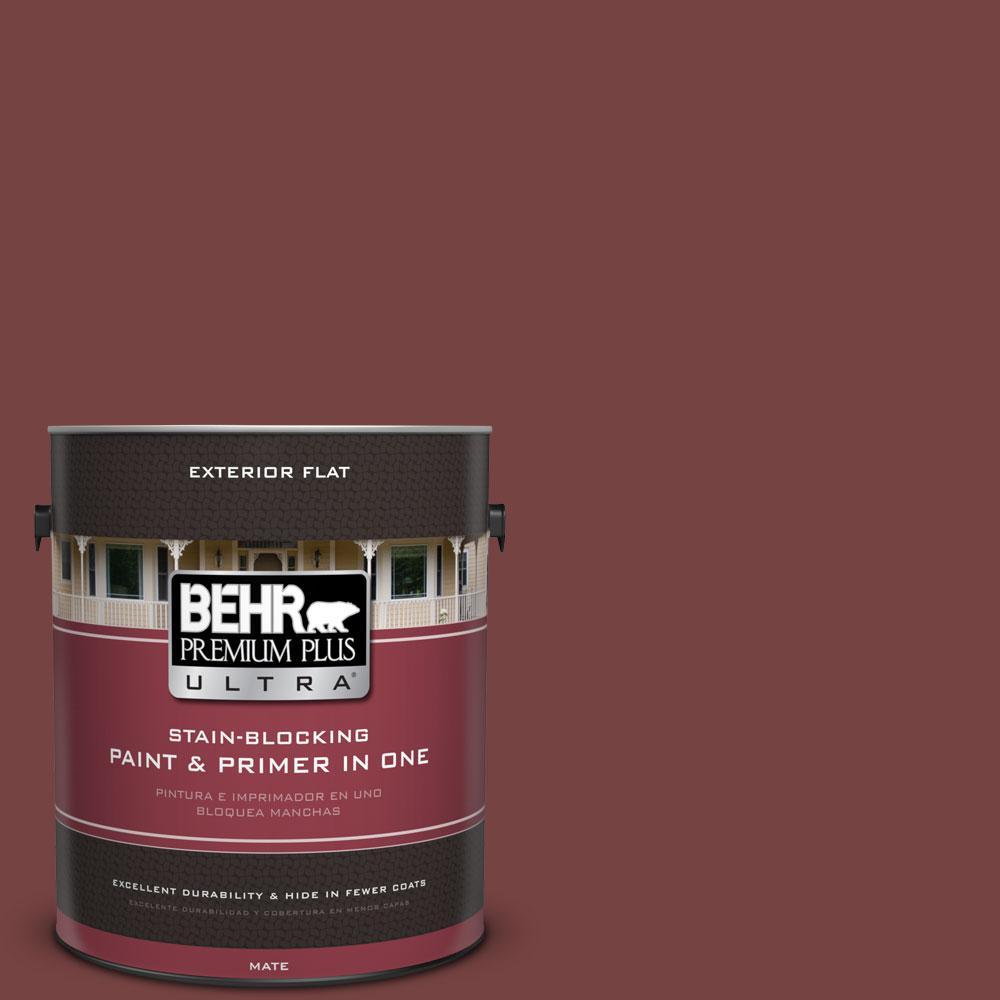 BEHR Premium Plus Ultra 1-gal. #S130-7 Cherry Cola Flat Exterior Paint