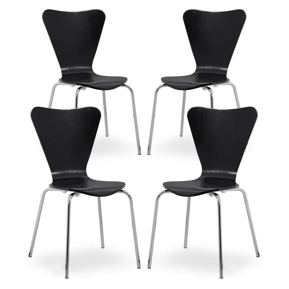 EDGEMOD Brynn Black Dining Chair (Set of 4) was $319.35 now $191.61 (40.0% off)