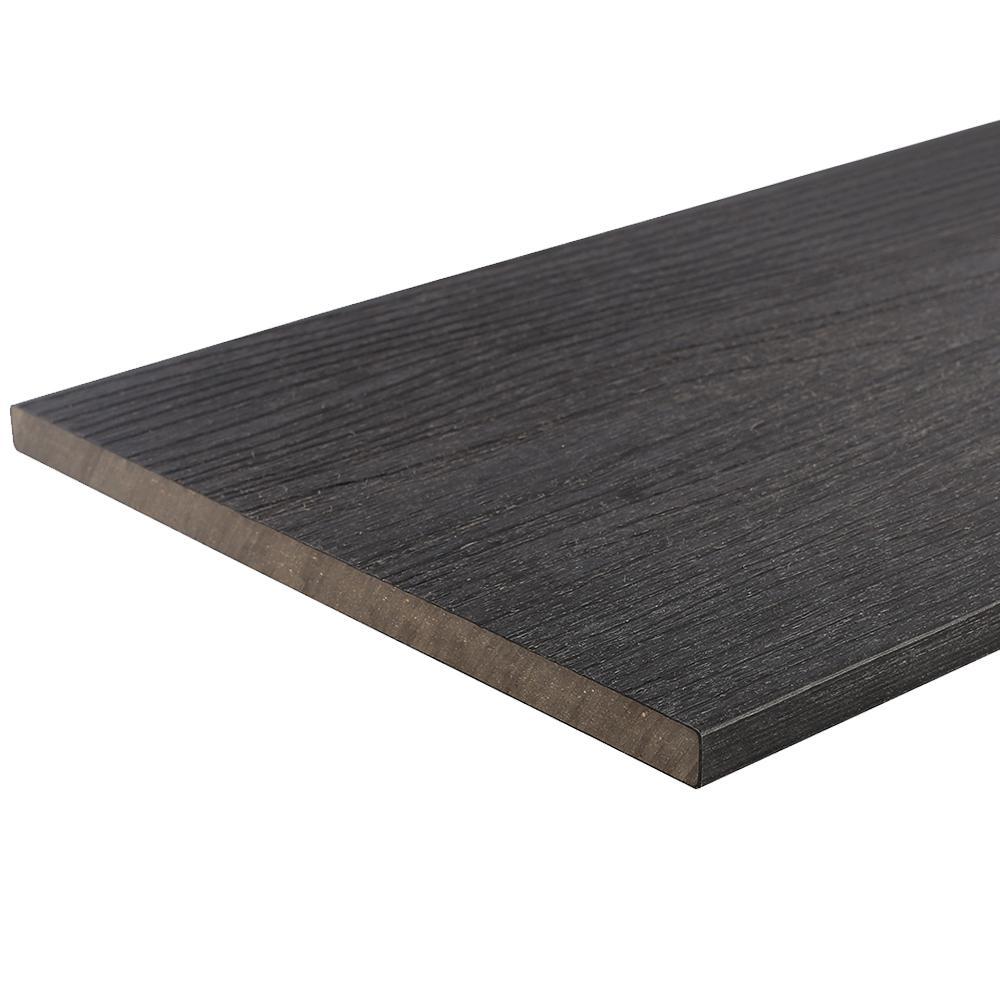 UltraShield 0.6 in. x 12 in. x 12 in. Hawaiian Charcoal Fascia Composite Decking Board Sample