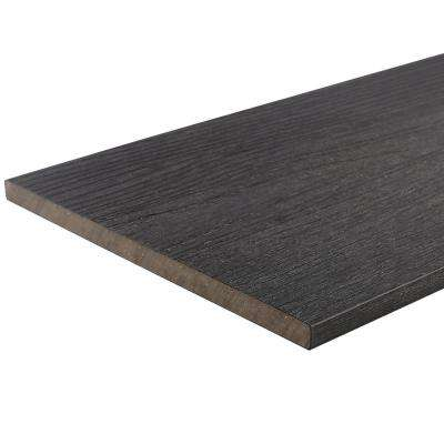 UltraShield 0.6 in. x 12 in. x 12 ft. Hawaiian Charcoal Fascia Composite Decking Board Sample