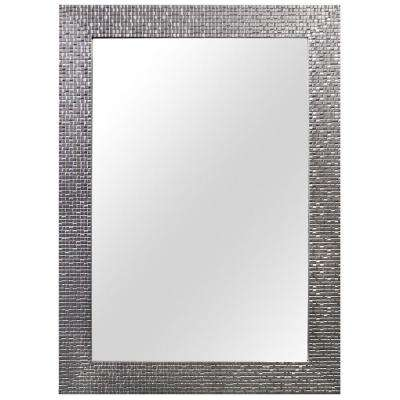 W x 35 in L Framed Fog Free Wall Mirror in Silver Modern - Simple Elegant 30 x 30 bathroom mirror Pictures