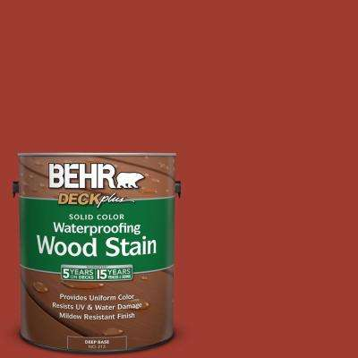 1 gal. #PPU2-16 Fire Cracker Solid Color Waterproofing Wood Stain