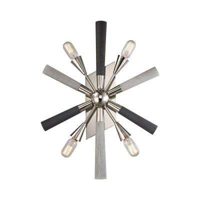 Solara 4-Light Polished Chrome Wall Sconce