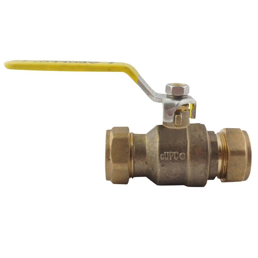 1/2 in. Bronze Compression Ball Valve Full-Port