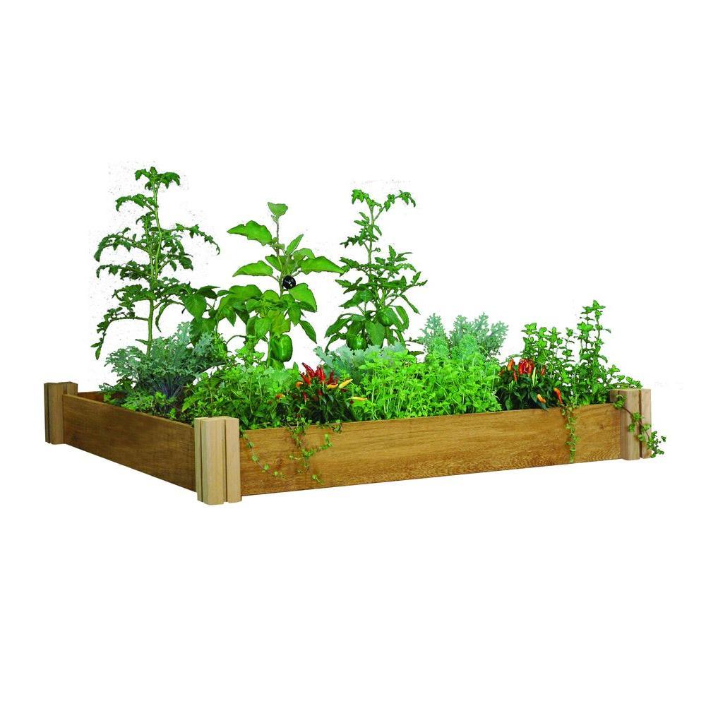 48 in. x 48 in. x 6.5 in. Modular Raised Garden Bed One Level